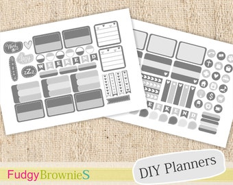 ON SALE everyday planner sticker -08,  planner decoration template, planner stickers kid, Instant download