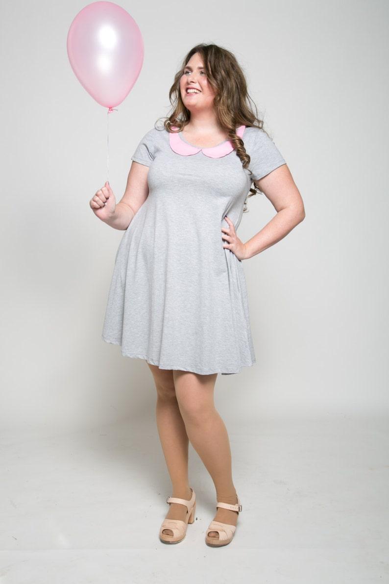 Gray dress Women chic dress Plus size mini dress Prom   Etsy