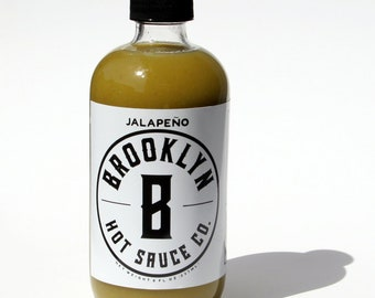 Jalapeño Hot Sauce,  Small Batch, Handcrafted, Great gift, Jalapeno, Chipotle, Spicy, Brooklyn Made, Great Gift