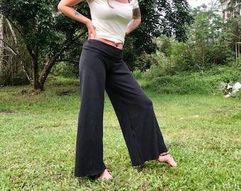 Organic Hemp Stretch Wide Leg Pants High Wasted