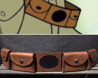 Kim Possible Inspired Leather Belt and Pouches