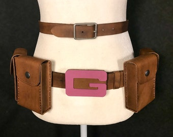 Gwenpool Inspired Leather Belt Set and Pouches