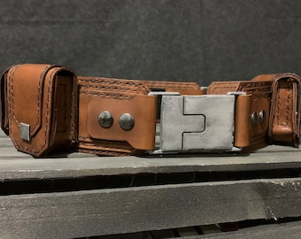 Captain America Smithsonian Museum Suit Inspired Leather Belt