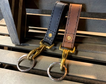 Leather Key Ring Belt Clips