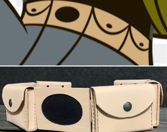 Ron Stoppable Inspired Leather Belt and Pouches