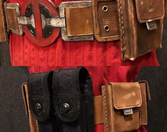 Deadpool Inspired Costume Belt and Pouches (Screen Version)