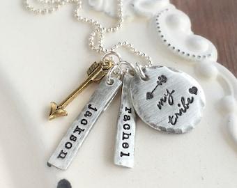 Personalized Necklace . My Tribe Jewelry . My Tribe . Mothers Necklace . Mommy Jewelry . Custom Jewelry . Mommy Jewelry . Anniversary Gift