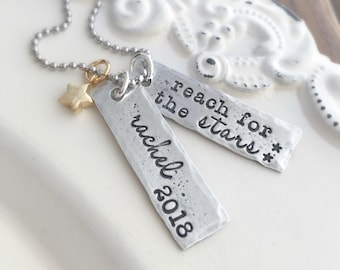 Graduation Necklace . Personalized Graduation . Graduation Jewelry . Graduation Gifts . Handmade jewelry . Custom jewelry . Engraved jewelry