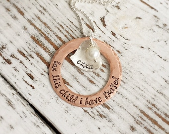 Personalized Necklaces . Personalized Adoption . Adoption Necklace. Personalized Name . Custom Adoption . Silver Stamped . Copper Stamped