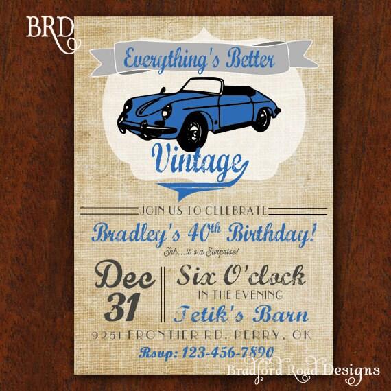 Oldtimer Geburtstagseinladung Ist Alles Besser Jahrgang 5 X 7 Etsy