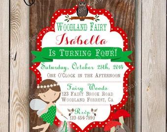Fairy Invitation Garden Fairy Party Fairy Garden Birthday Invitation Printable Invitation Gold Fairy Floral Pink Fairy Flower Fairy Party