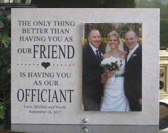 WEDDING OFFICIANT GIFT, officiant frame, thank you gift for officiant, thank you gift for wedding officiant, wedding gift for officiant