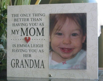 Grandma Frame, Grandma Gift, Grandma Picture Frame, Grandma Photo Frame,  4 x 6 photo, Ceramic Heart