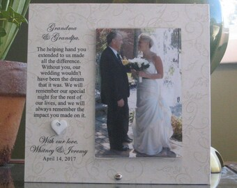 Grandparents Wedding Gift Personalized Wedding Picture Frame Grandparents Wedding Frame heart SELECT ANY GRANDPARENTS Names 4x6 photo