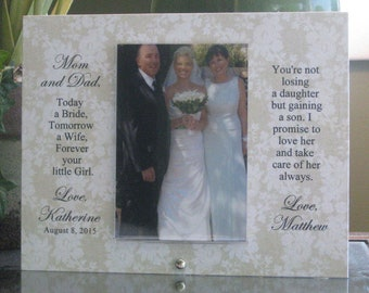 Parents Wedding Gift, Wedding Gift for Parents, Parents of Bride Wedding Frame, Parents of Bride Wedding Gift, Saying Choice, 4x6 photo