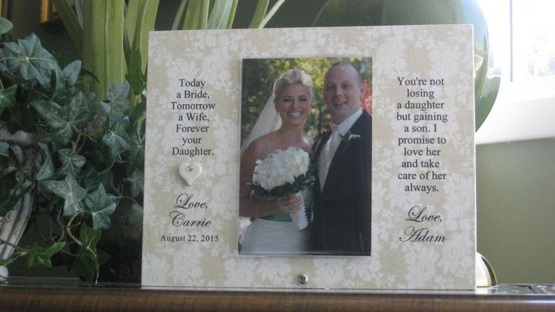 Personalized Wedding Photo Frame Parents of the Bride Frame 4x6 photo Parents of the Bride Gift Parents of the Bride Picture Frame