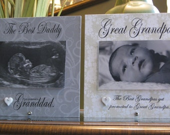 Great Grandpa gift  (select any GRANDFATHER name), Great Grandpa picture frame,  4 x 6 photo, Grandpa frame, Grandpa Gift, Grandfather frame