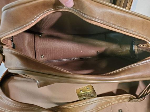 Vintage Invicta Duffle Bag Set Brown Tan Tweed Go… - image 6