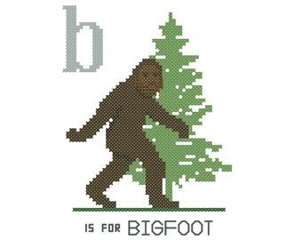 Bigfoot Cross Stitch Etsy