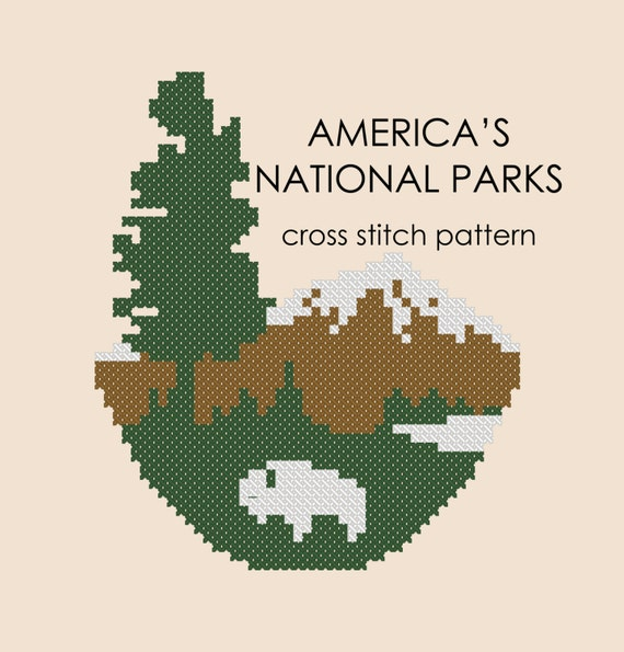 Americas National Parks Cross Stitch Pdf Pattern Etsy
