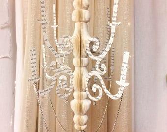 Book Chandelier/wedding Decorations/green decorations