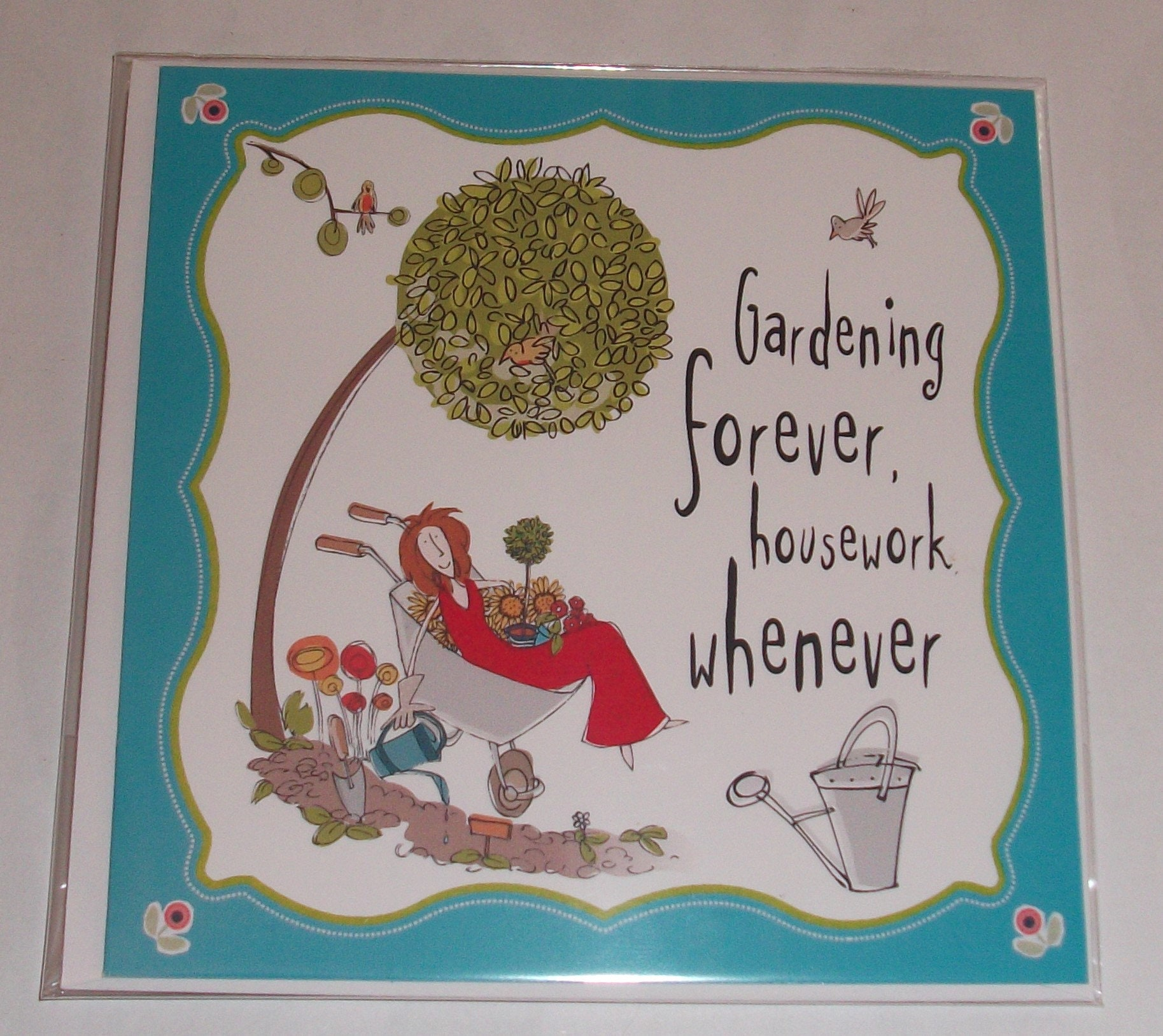 Female Birthday Card Gardening Theme Funny