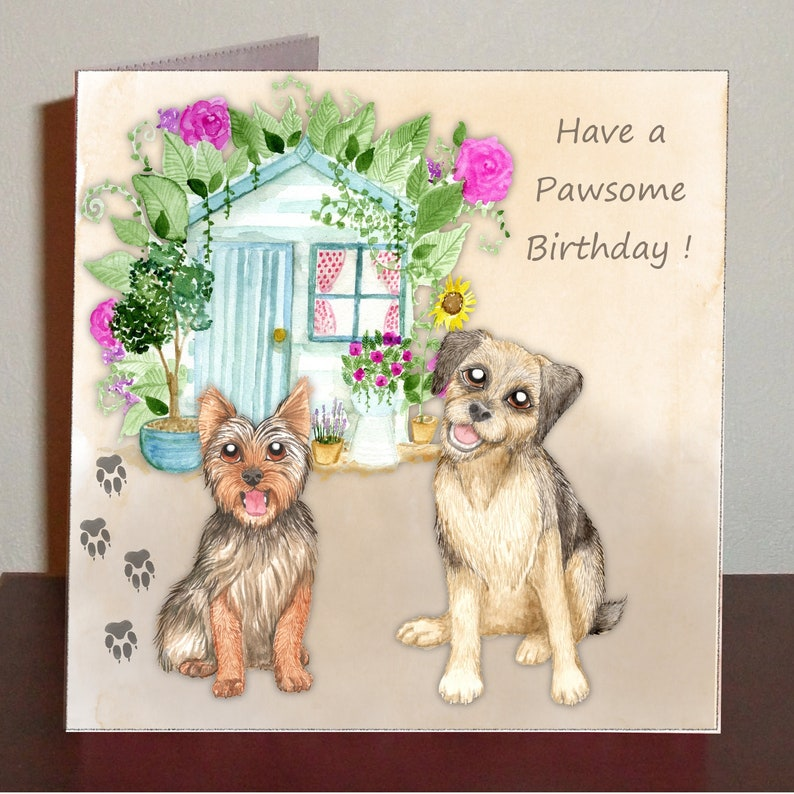 Dog Themed Birthday Card Have A Pawsome