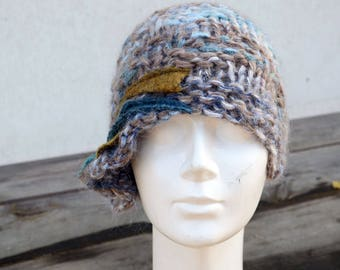 05b61a35bd9 knit hat scarf wool felt shawl linen clothing by ZOJKAshop on Etsy