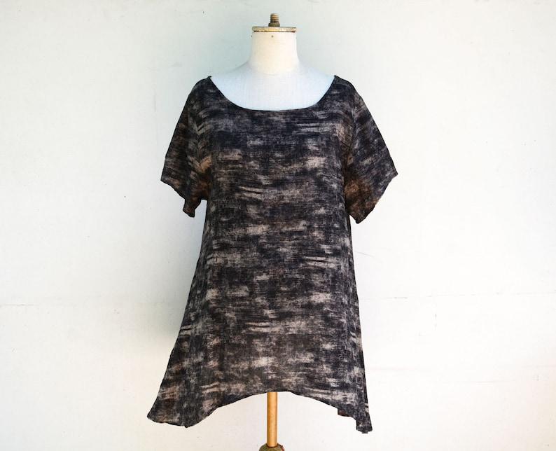 d5741c83f37 Lagenlook thin wool tunic M / S size unique tank woman long | Etsy