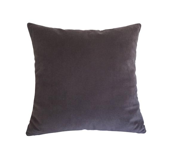 "Plum Velvet Suede Decorative Throw Pillow Cover Cushion Cover 20x20/"""