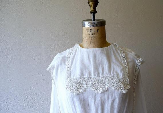 Antique cotton dress . vintage white 1910s dress - image 7