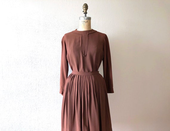 1940s dress set . vintage 40s rayon top and skirt