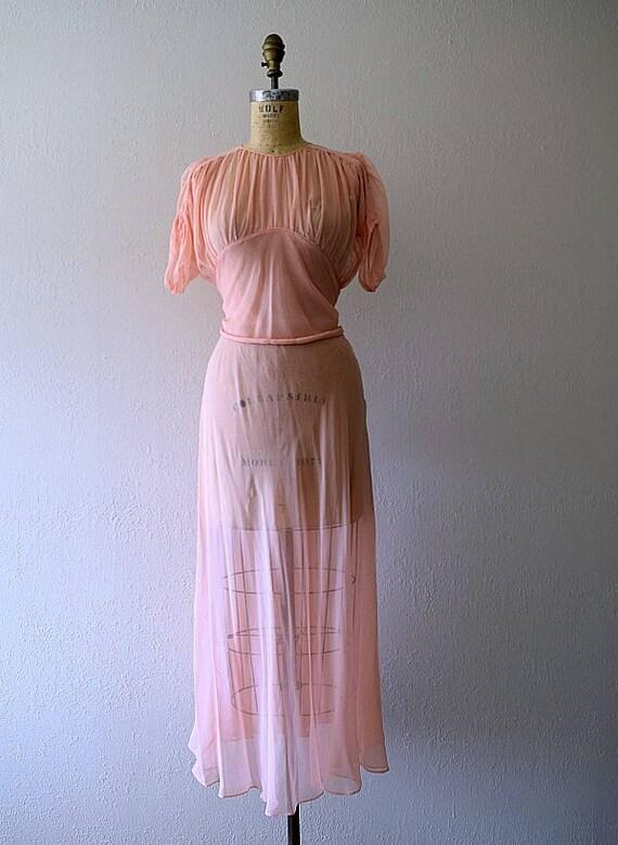 Vintage 1930s dress . 30s silk chiffon dress - image 4