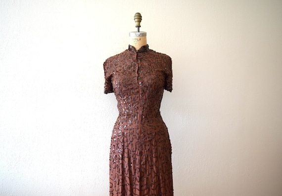 1940s Ceil Chapman dress . vintage sequin dress