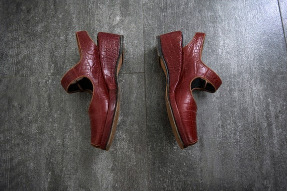 1940s 1950s shoes . vintage wedge sandals - image 4