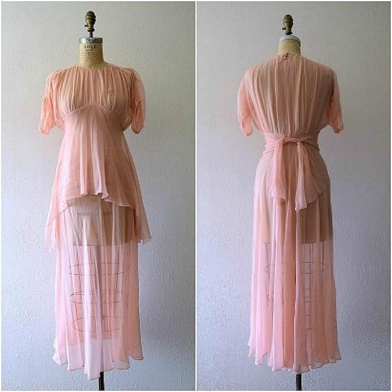 Vintage 1930s dress . 30s silk chiffon dress - image 3