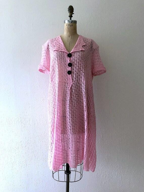 1940s knit dress . vintage 40s dress - image 2