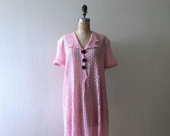1940s knit dress . vintage 40s dress
