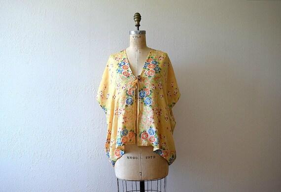 1920s 1930s silk pongee bed jacket . vintage 20s f