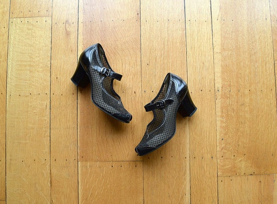 1940s Mary Jane shoes . vintage 40s shoes - image 1