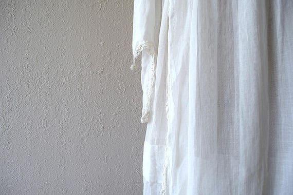Antique cotton dress . vintage white 1910s dress - image 6