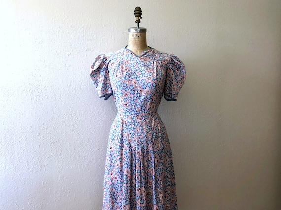 1930s feed sack dress . vintage 30s feedsack dress
