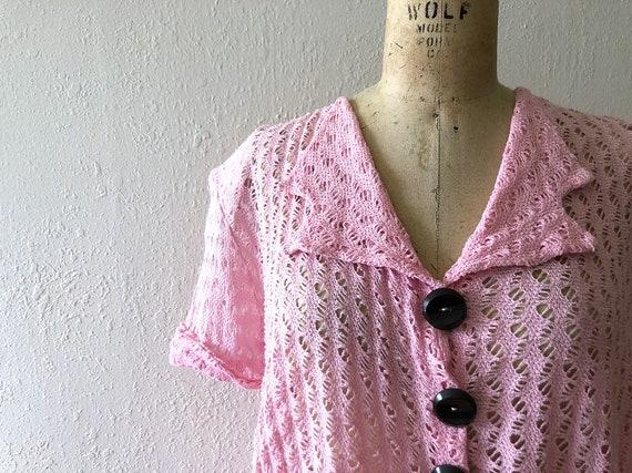 1940s knit dress . vintage 40s dress - image 3
