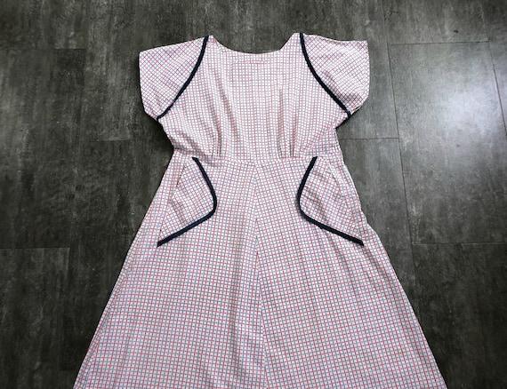 1940s 1950s day dress . vintage 40s summer dress