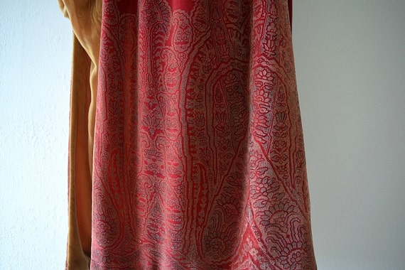 1920s silk velvet cape . vintage 20s stenciled ve… - image 3