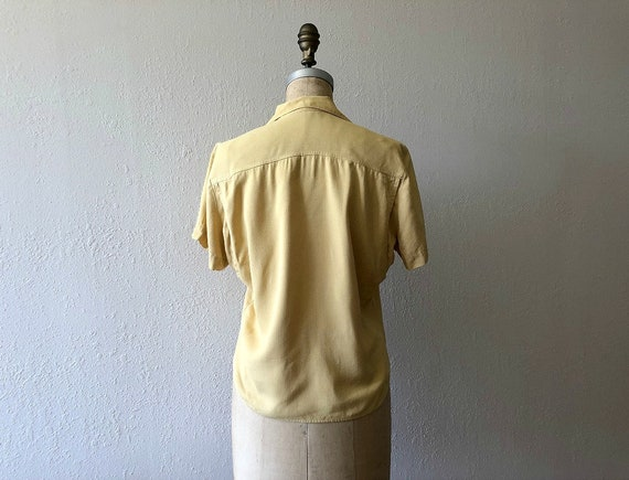 1940s gabardine top . vintage 40s rayon blouse - image 2