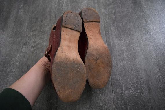 1940s 1950s shoes . vintage wedge sandals - image 6