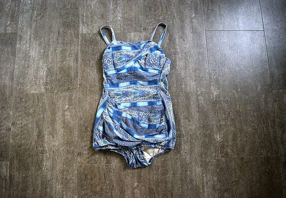 1950s swimsuit . vintage Rose Marie Reid bathing s