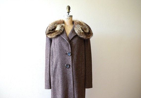 1930s 1940s coat . vintage 30s 40s wool coat
