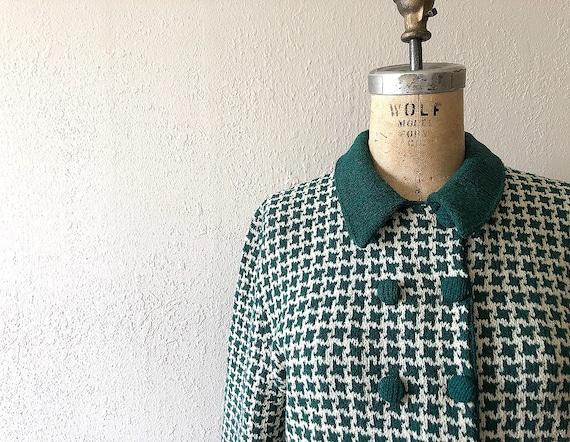 1940s knit set . vintage 40s green knit dress - image 4